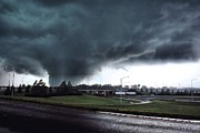 Tuscaloosa Tornado Prints - Hell Unleashed Print by Rick Lipscomb