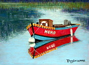 Boat Pastels Metal Prints - Hero Metal Print by Tanja Ware