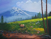 Pathway Paintings - High Country Elk  by Ruth  Housley