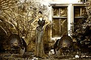 High Fashion Model With Turkey Print by Milan Karadzic