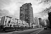 Overcast Day Posters - high rise apartment condo blocks in the west end alberni street coal harbour Vancouver BC Canada Poster by Joe Fox