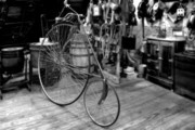 Country Store Metal Prints - High Wheel Penny-farthing Bike Metal Print by Christine Till