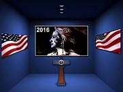 Hillary 2016 Print by Marvin Blaine