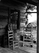 Rocking Chairs Metal Prints - His and Hers Metal Print by Julie Dant