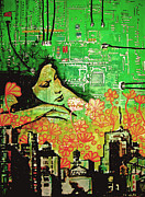 New York Mixed Media Originals - Hive Mind 2.0 by dreXeL