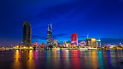 Fototrav Print Prints - Ho Chi Minh City Night Skyline Print by Fototrav Print