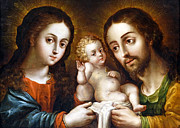 Joseph Photos - Holy Family by Munir Alawi
