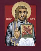 New Martyr Paintings - Holy New Martyr Nestor Savchuk by William Hart McNichols
