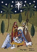 Nativity Paintings - Holy Night by Medana Gabbard