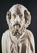 Greek Sculpture Prints - Homer 9th Century  Bc. Roman Copy Print by Everett