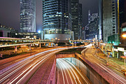 Hong Kong Metal Prints - Hong Kong Rush Hour Metal Print by Lars Ruecker