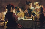 Lute Photo Framed Prints - Honthorst, Gerrit Van, Also Called Framed Print by Everett