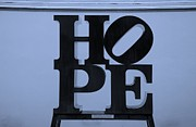 Indiana Scenes Digital Art Metal Prints - HOPE in CYAN Metal Print by Rob Hans