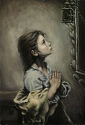 Child Praying Paintings - Hope by Maci Fuhriman