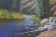 Autumn Foliage Pastels Prints - Horse Creek Print by Heather Coen