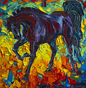Print On Canvas Painting Posters - Horse Poster by Willson Lau