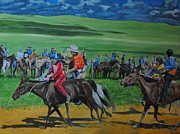 Horserace Paintings - Horserace by Jacob Brandt-Moeller