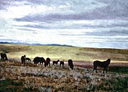 Montana Digital Art - Horses in Montana by Larry Stolle