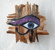 Horus Mixed Media Originals - Horus Eye by Miriam Berois