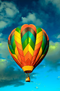 Inspirational Greeting Cards Posters - Hot Air Balloon Poster by Robert Bales