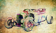 Graffitti Coupe Prints - Hot Rod Art Print by Steve McKinzie