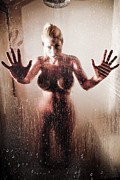 Voyeur Posters - Hot Shower Poster by Jt PhotoDesign