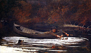 Autumn Scene Digital Art - Hound and Hunter by Winslow Homer