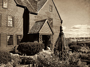 Historic Sites Framed Prints - House Of The Seven Gables Framed Print by Lourry Legarde