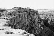 Buffet Photos - hualapai indian buffet cafe building built on the cliff face at guano point Grand Canyon west arizon by Joe Fox