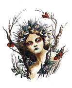 Huckleberry Prints - Huckleberry Nymph Print by Lavandulae L