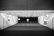 Practice Range Prints - Human Shape Paper Target At A Gun Range In Florida Usa Print by Joe Fox