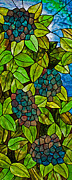 Impressionist Glass Art - Hydrangea by David Kennedy