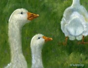 Ducks Paintings - I Like The Way She Waddles by Vicky Watkins