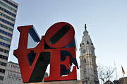 City Hall Prints - I Love Philadelphia Print by Bill Cannon