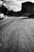Ice-covered Prints - Ice Covered Road And Street In Arctic Kirkenes Finnmark Norway Europe Print by Joe Fox