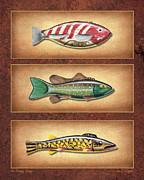 Fishing Painting Posters - Ice Fishing Decoys Poster by JQ Licensing