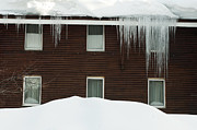 White Frame House Originals - Icicles on window by Deyan Georgiev