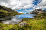 Plants Digital Art Prints - Idwal Lake Snowdonia Print by Adrian Evans