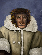 Runaway Framed Prints - IKEA Monkey Framed Print by Leah Saulnier The Painting Maniac