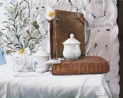 Interior Still Life Paintings - Il Libro Antico by Danka Weitzen