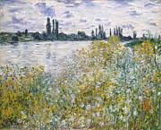 Famous Artists - Ile aux Fleurs near Vetheuil by Claude Monet