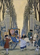Money Painting Prints - Illustration from Les Liaisons Dangereuses  Print by Georges Barbier