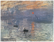 Impression Framed Prints - Impression Sunrise Framed Print by Claude Monet