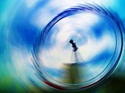 Abstract Sights Digital Art Prints - In a spin Print by Sharon Lisa Clarke