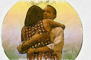 Michelle Obama  Digital Art Prints - In Love Print by Anthony Caruso