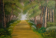 Oils Originals - In the woods by Peter Kallai