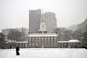 Independence Hall Posters - Independence Hall Poster by Andrew Dinh