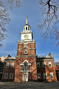 Congress Posters - Independence Hall in Philadelphia Poster by Olivier Le Queinec