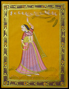 Dancing Tapestries - Textiles Framed Prints - Indian Dancer Framed Print by Sivaanan Balachandran