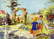 Infant School Illustrations 1950s Uk Print by The Advertising Archives